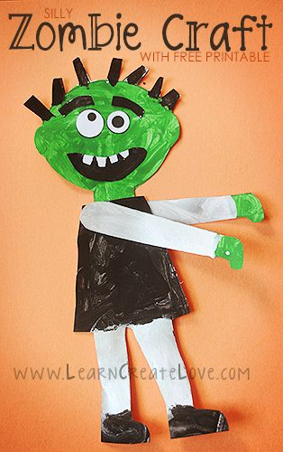 45 Halloween Kids Crafts Zombie Birthday Party Halloween Crafts