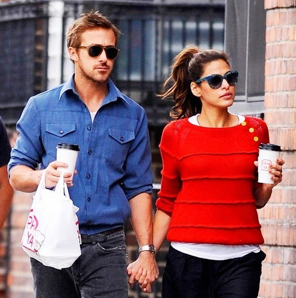 Eva Mendes and Ryan Gosling. I haven't decided who I'm more attracted to..him or her!