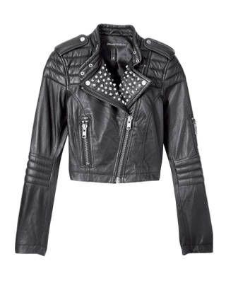 Leather jacket, H