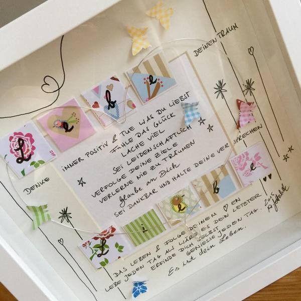 """Bild """"Lebe DEIN Leben"""" UNIKAT  incl. Rahmen und Passepartout  ❤️alle meine persönlichen Bilder sind unverwechselbar mit dem """"WG ART handmade with love"""" stofflabel gekennzeichnet.❤️"""