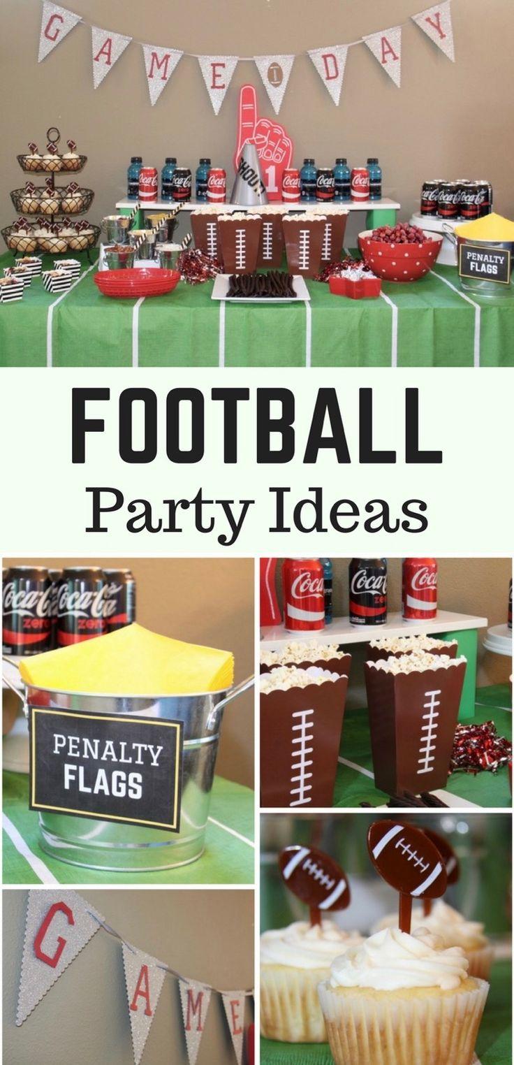 Football Party Ideas & Kids' Football Craft  #NotSoFastMom #ad