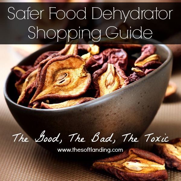 Safer Food Dehydrator Shopping Guide. Outlines the plastic content of major dehydrator brands so you can make an informed choice about which one to buy! (affiliate links in the post)
