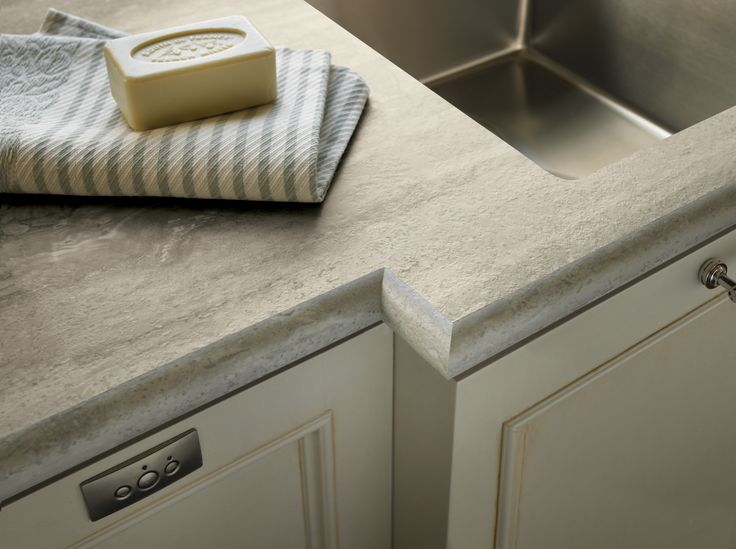 Travertine Silver 180fx® With An #bullnose IdealEdge™ Profile #kitchen # Laminate
