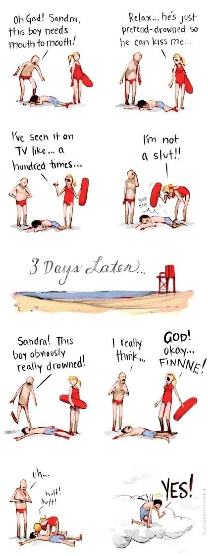 The Virtuous Lifeguard  - funny pictures #funnypictures