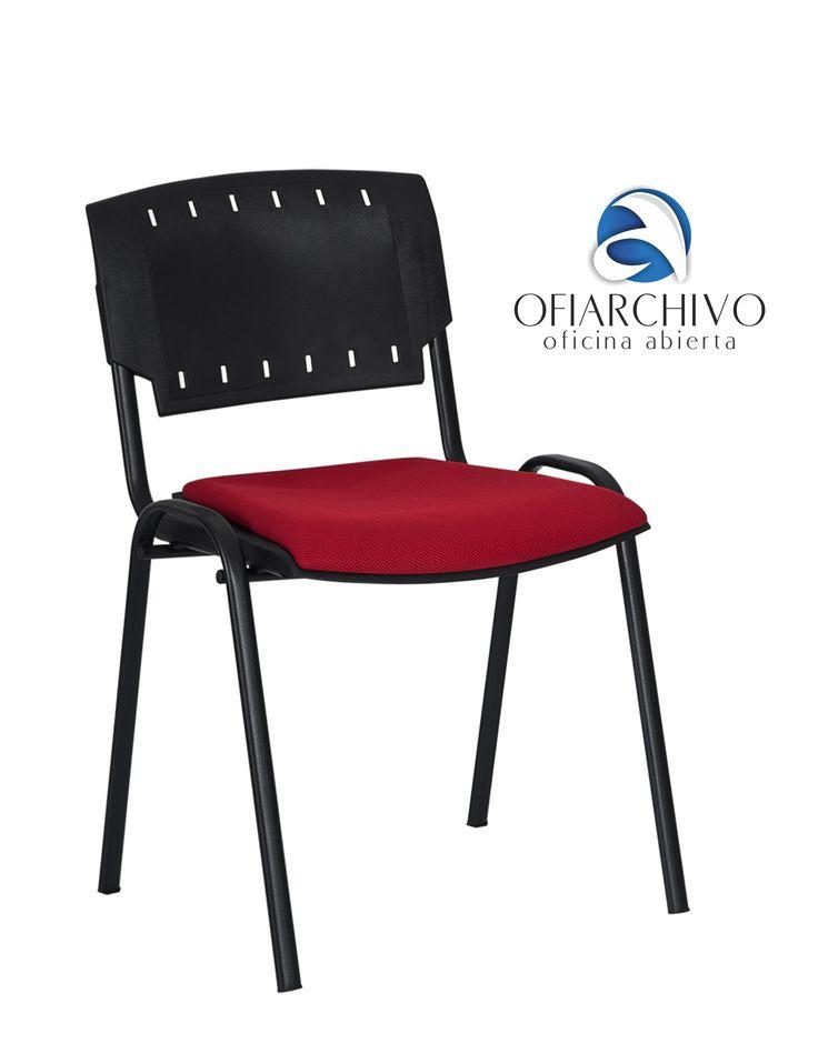 Silla  Sigma Asiento Tapizado Ofiarchivo - Rojo