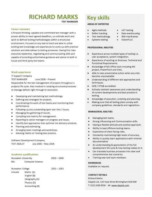 14 best cv images on Pinterest Resume ideas, Resume templates - wireless test engineer sample resume