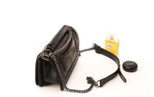 Women-Genuine-Leather-Flap-Bag-Lambskin-Vintage-Boxy-Messenger-w-Chain-Strap
