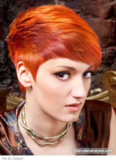 copper pixie cut - Google Search