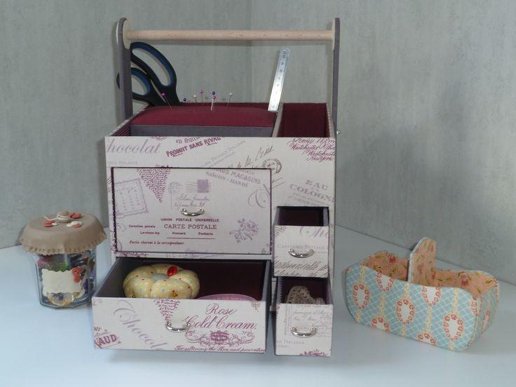 Cartonnage : desserte à couture ChaDaNel
