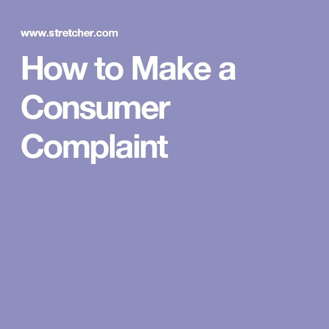 How to Make a Consumer Complaint