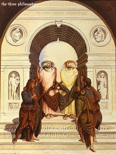 The three philosophers [Octavio Ocampo]