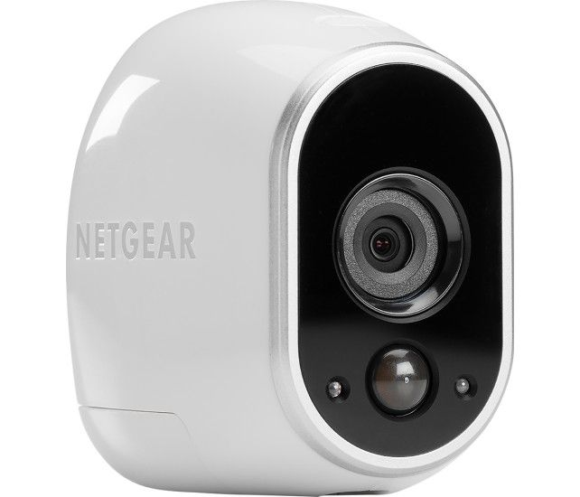 NETGEAR - Arlo Smart Home Indoor/Outdoor Wireless High-Definition IP Security Camera - White/Black - Angle Zoom