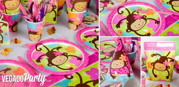 Decorazioni Scimmia adorabile per compleanni con VegaooParty