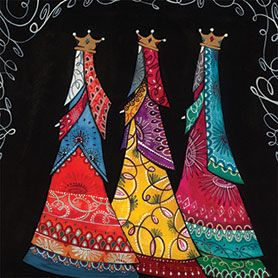 Three Kings Cards | three kings 128mm x 128mm this beautiful card depicts the three kings ...