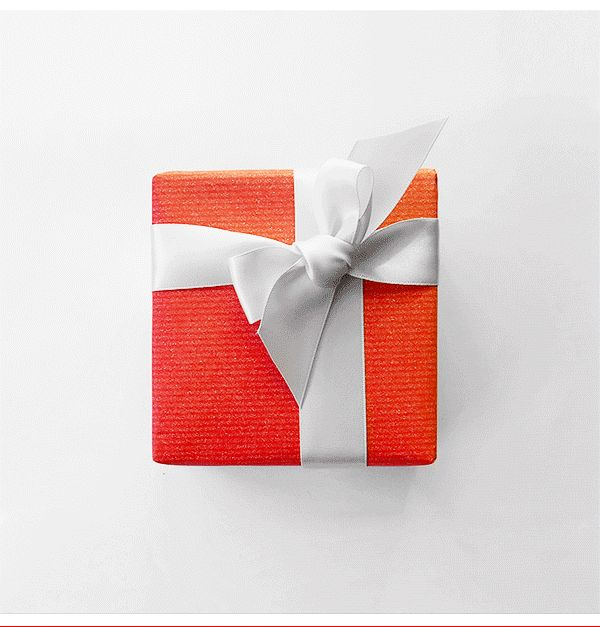 Three Floor fashion. Gift unwrapping Sale gif. Gif design in emails.