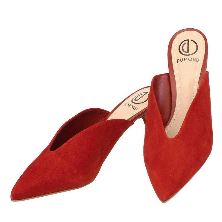 Mule Casual Decote em V Terra Ruby 3964 Dumond para Mosela   Moselle sapatos finos online! Mosela é mulher   – mule casual shoes – mules sapatos femininos casual esporte fino