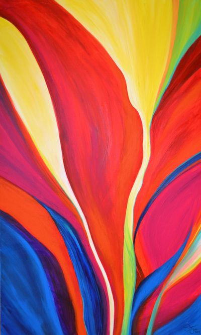 """""""Paradise"""" by Stephanie Jack - 36in x 60in - acrylic painting - 2013 - $700"""