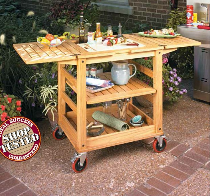 Patio Serving Cart Woodsmith Plans Pinterest Patio