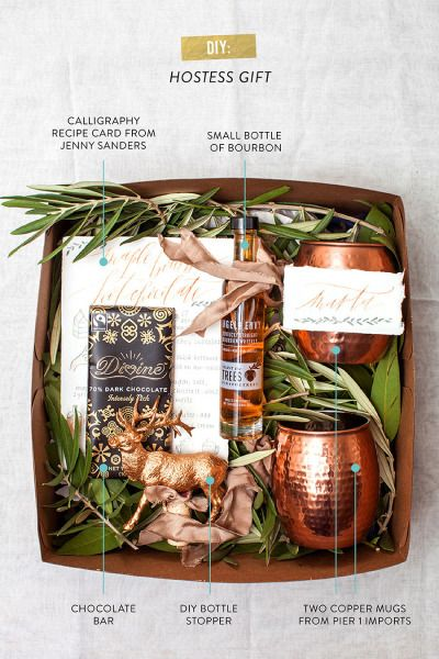 DIY hostess gift box from Pier 1: http://www.stylemepretty.com/living/2014/12/04/diy-holiday-hostess-gift-from-pier-1-imports/