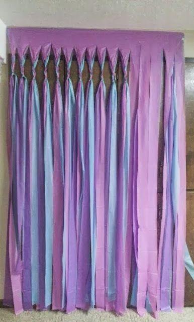 Grosgrain: No Sew Plastic Tablecloth Streamer Ideas!