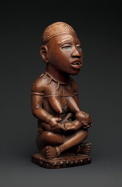 Power Figure: Seated Female Nursing Child (Nkisi), 19th–early 20th century. Kongo peoples; Yombe group, Democratic Republic of the Congo
