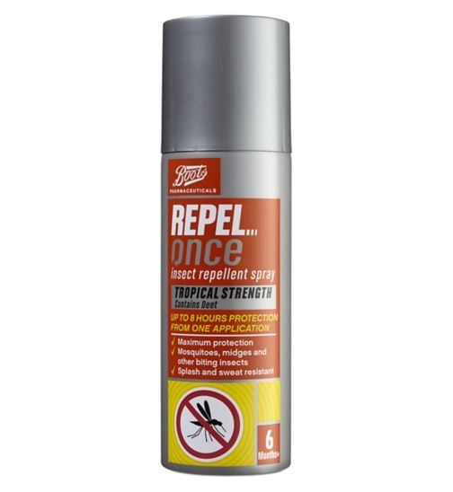 Boots Pharmaceuticals Repel Once Insect Repellent Aerosol Spray (125ml)