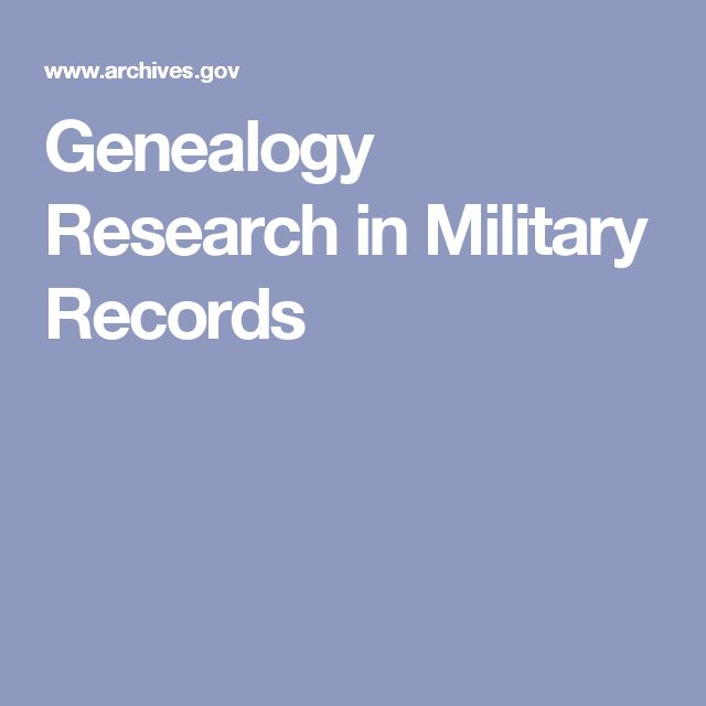 Genealogy Research in Military Records