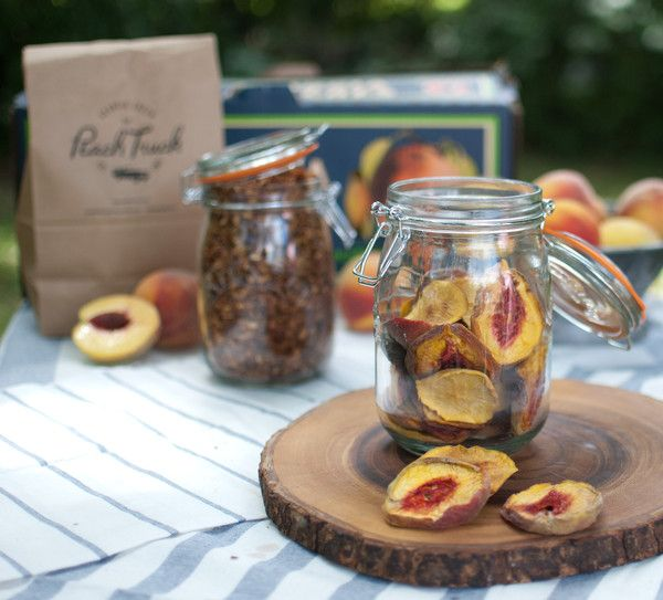 Dried Peaches Once dried, these peaches have many uses. You can simply eat them as a snack or chop them up for cereal or granola. However many classic recipes f