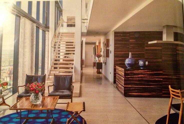 Macassar Ebony kitchen with Nero Assoluto worktops, Minotti Cucine. Beetham Tower by Ian Simpson
