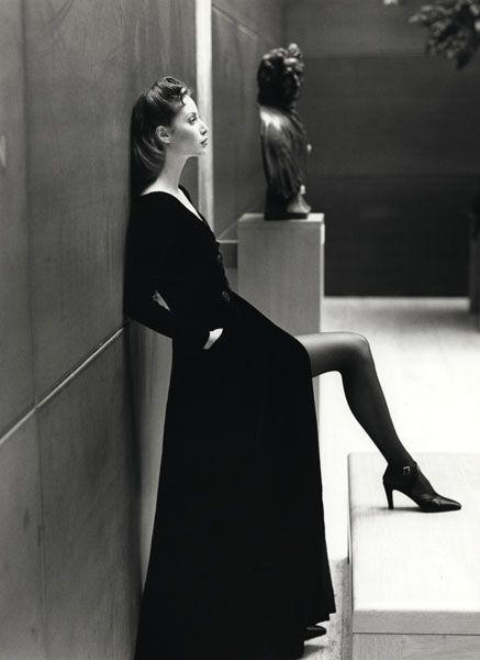 A Patrick Demarchelier photograph of Christy Turlington.