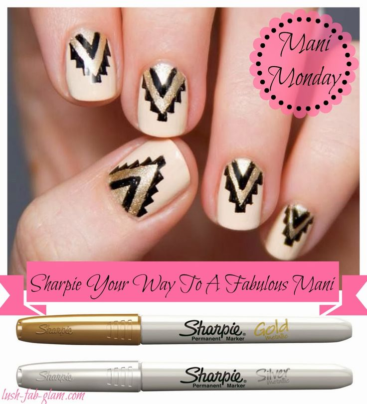 Lush Fab Glam Blogazine: Mani Monday: Sharpie Your Way To A ...