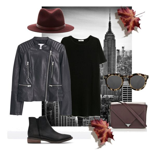 #1 - Autumn In New York by sannah7 on Polyvore featuring polyvore, fashion, style, MANGO, Zara, Alexander Wang, rag & bone and Illesteva
