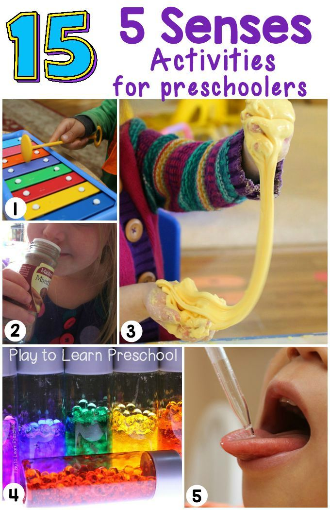 15 fantastic ideas that will help young children learn and explore through their senses.