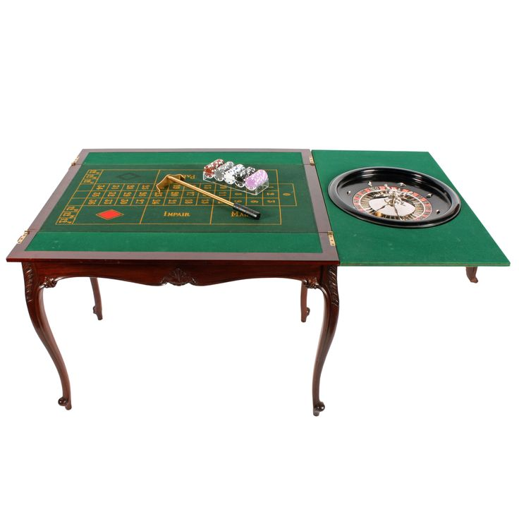 Mahogany Roulette & Games Table