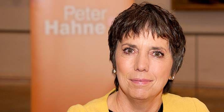 "Die EKD-Botschafterin Margot Käßmann bei ""Peter Hahne"" am 1. November. Foto: KRAMERS"