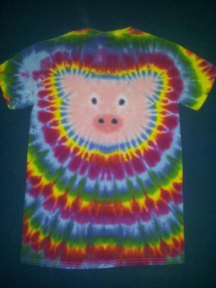 Pig Hog Tie Dye T-Shirt tye FREE SHIPPING shirt by tiedye4ink on Etsy https://www.etsy.com/listing/219821811/pig-hog-tie-dye-t-shirt-tye-free