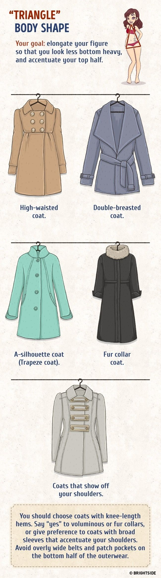 A thoroughly useful guide to finding the best coat for your body type