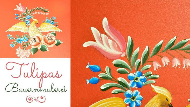 Pássaro com flores em Bauer - Peça completa - Tulipas - Vídeo 4 de 5