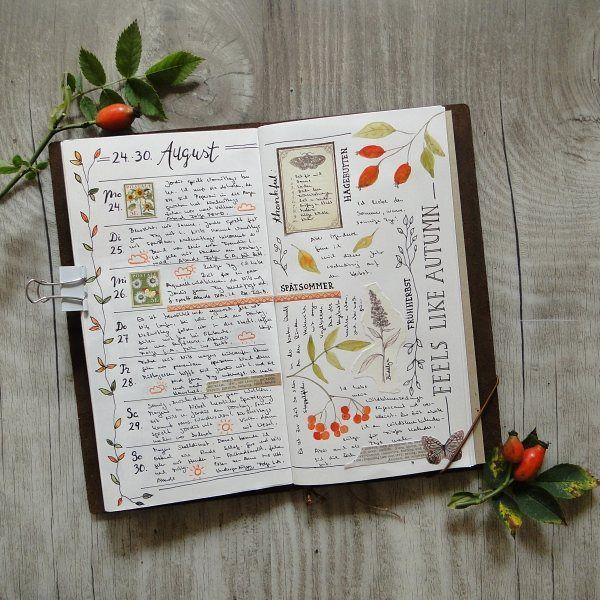 PLANNER - WEEK 35 - in my midori travelers notebook