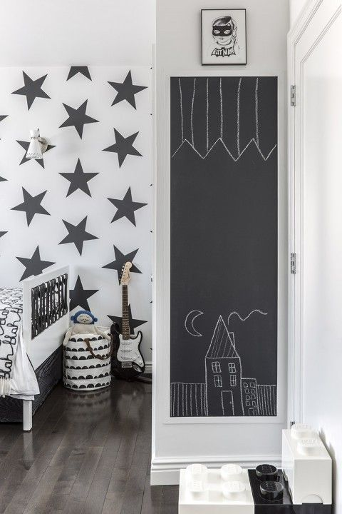 black   white - 5 year old Sebastian room , design by Sissy+Marley