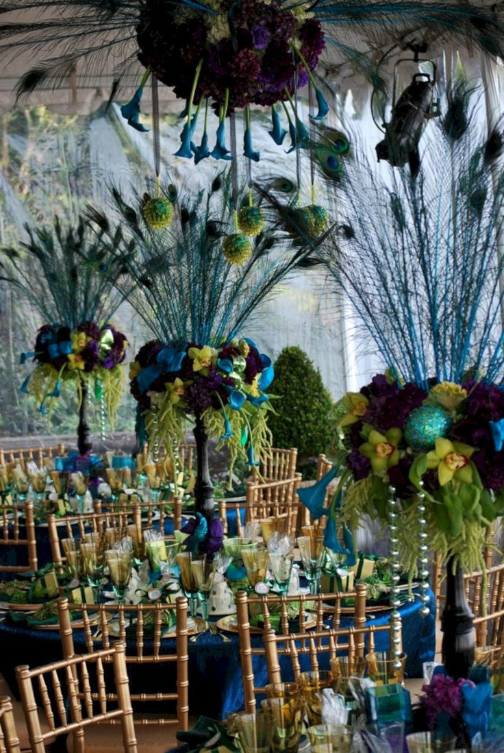 50s wedding decoration ideas   best Peacock Wedding Theme images on Pinterest  Peacock cake