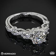 Verragio Braided 3 Stone Engagement Ring with a 1.035ct A CUT ABOVE - PIN IT TO WIN IT http://#Whiteflash http://#Verragio