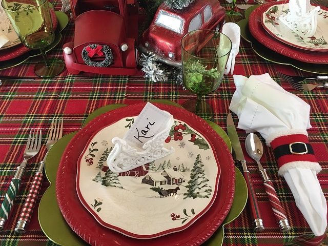 403 best Christmas Table settings images on Pinterest | Christmas ...