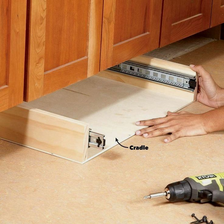 How To Build Under Cabinet Drawers Increase Kitchen Storage In 2020 Under Cabinet Drawers Kitchen Cabinet Storage Diy Kitchen Storage