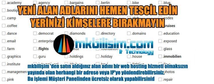 MK Bilişim'den satın aldığınız alan adını bir web hosting hizmeti olmaksızın yayında olan herhangi bir adrese veya IP'ye yönlendirebilirsiniz. Bu işlemi Müşteri Panelinden ücretsiz olarak yapabilirsiniz. http://www.mkbilisim.com/new-domain-extensions MKB Information Technology #hosting #reseller #linuxhosting #windowshosting #linuxreseller #windowsreseller #domain #domains #alanadı #ucuzalanadı #domainname #com #net #vps #vds #sunucu #sanalsunucu #bulutsunucu #bulut #cloud #CloudSunucu