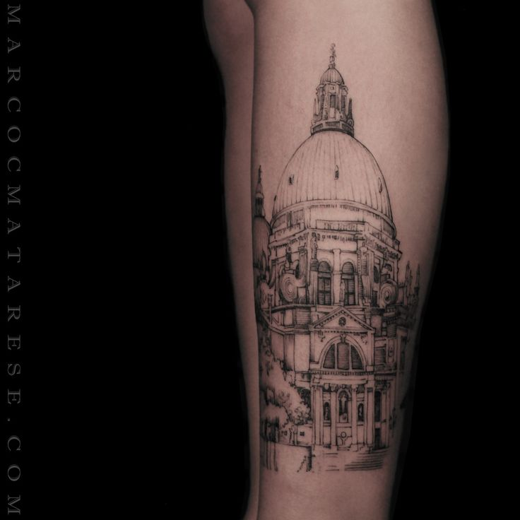 Church Venezia. Marco C. Matarese tattoo | Etching, linework, engraving. Milan…