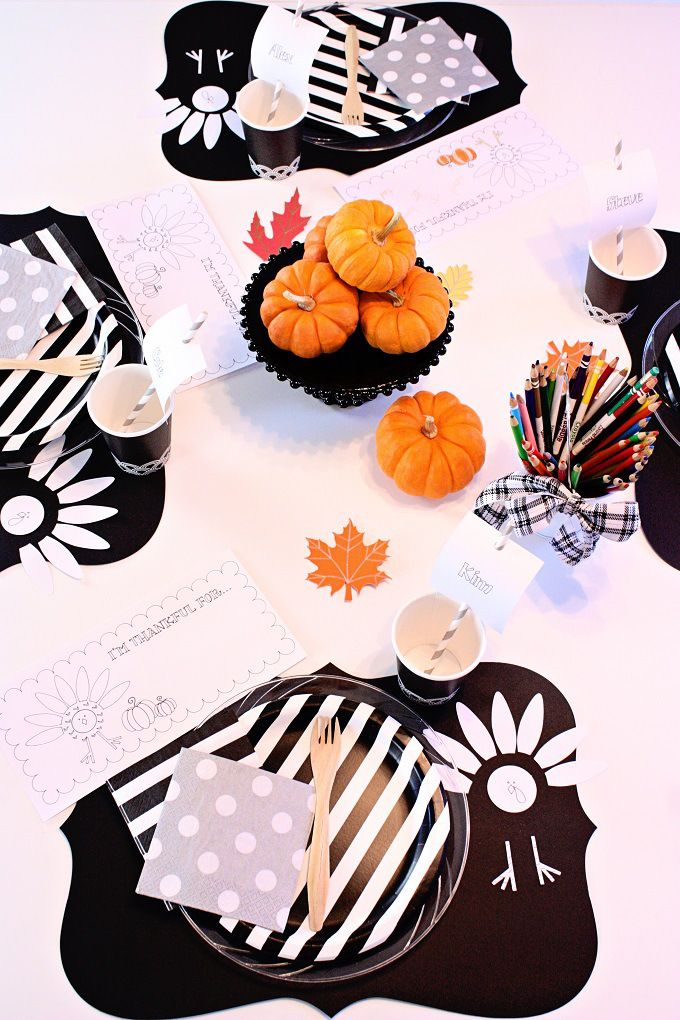 Thanksgiving Kids 39 Table Ideas Free Printable Coloring