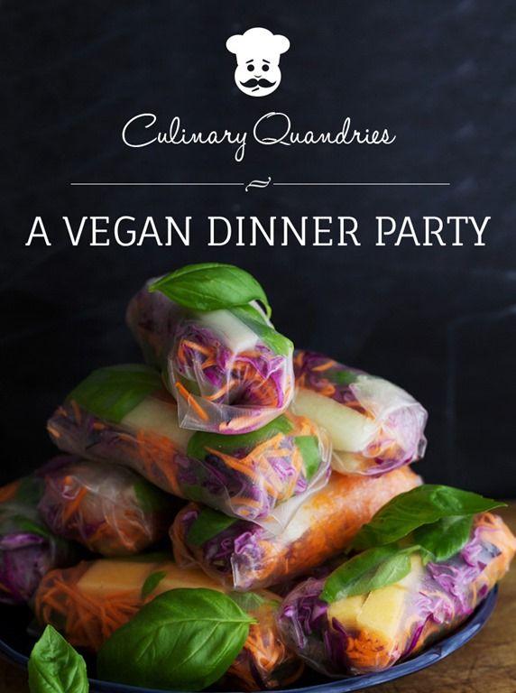 """Win a copy of new eBook- """"Culinary Quandaries: A Vegan Dinner Party"""" #giveaway #vegan"""