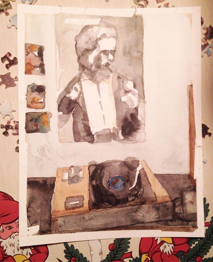 poster boy aquarelle