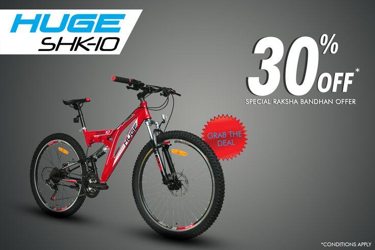 #HugeLove #RideHugeBikes Get 30% OFF on Huge bikes only on Flipkart! Enjoy the exclusive offer!!  Click here to buy now: http://bit.ly/2baXaEZ